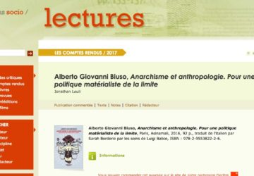 Louli su <em>Anarchisme et Anthropologie</em>