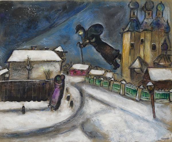 Chagall. Sopra Vitebsk